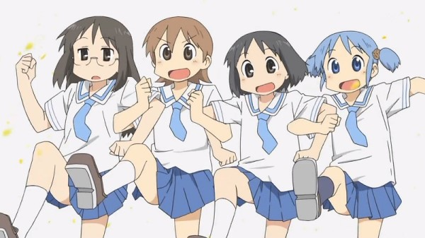 show the main characters of nichijou